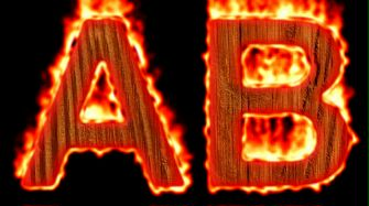 Burning Wood Text Logo Effect 15