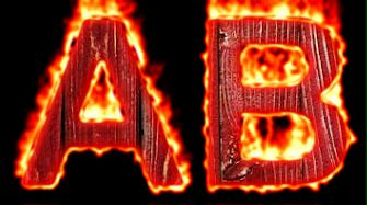 Burning Wood Text Logo Effect 16