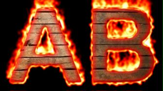 Burning Wood Text Logo Effect 18