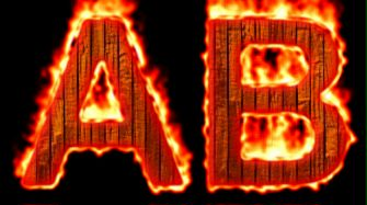 Burning Wood Text Logo Effect 23