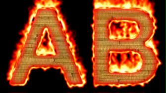 Burning Wood Text Logo Effect 24