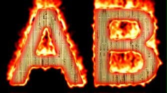 Burning Wood Text Logo Effect 25