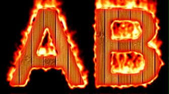 Burning Wood Text Logo Effect 26
