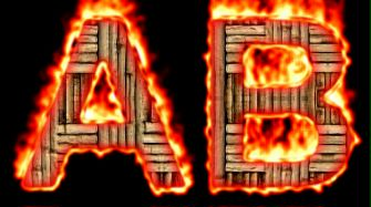 Burning Wood Text Logo Effect 27