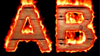 Burning Wood Text Logo Effect 28