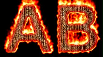 Burning Wood Text Logo Effect 34