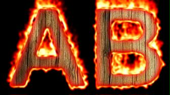 Burning Wood Text Logo Effect 35