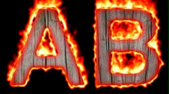 Burning Wood Text Logo Effect 36