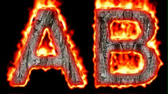 Burning Wood Text Logo Effect 37