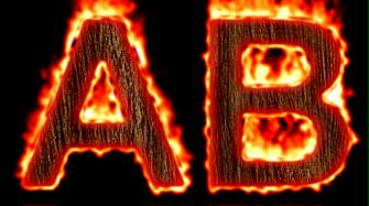 Burning Wood Text Logo Effect 38