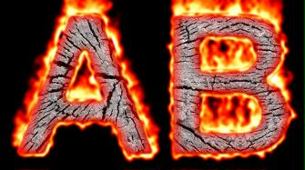 Burning Wood Text Logo Effect 40
