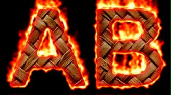 Burning Wood Text Logo Effect 47