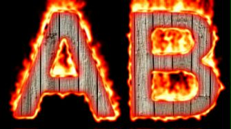 Burning Wood Text Logo Effect 48