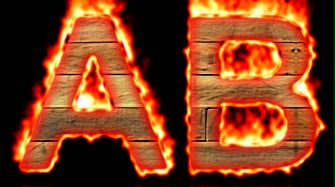 Burning Wood Text Logo Effect 49