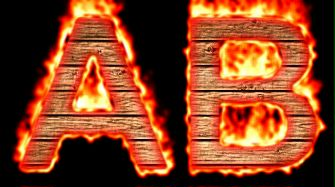 Burning Wood Text Logo Effect 50
