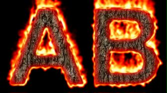 Burning Wood Text Logo Effect 53