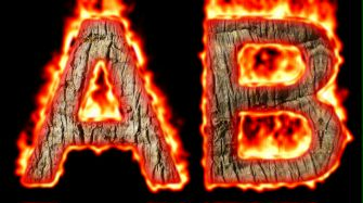 Burning Wood Text Logo Effect 55