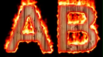 Burning Wood Text Logo Effect 56