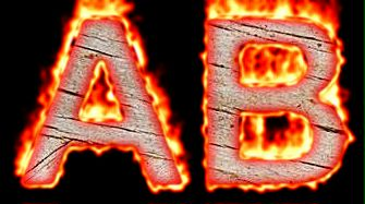 Burning Wood Text Logo Effect 57