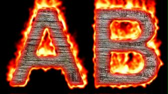 Burning Wood Text Logo Effect 61