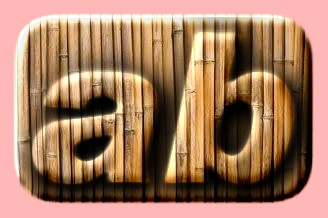 Embossed Bamboo Text Effect 003