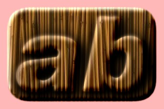 Embossed Bamboo Text Effect 005