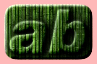 Embossed Bamboo Text Effect 008