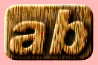 Embossed Bamboo Text Effect 011