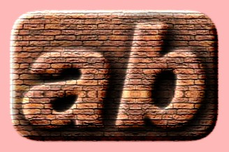 Embossed Brick Text Effect 003