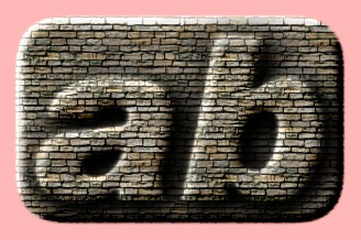 Embossed Brick Text Effect 004