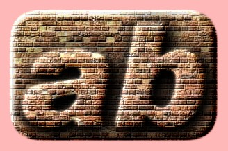 Embossed Brick Text Effect 005
