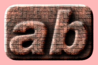Embossed Brick Text Effect 007