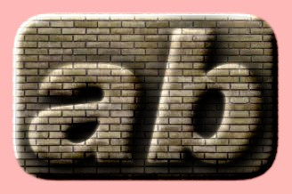 Embossed Brick Text Effect 012