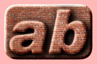 Embossed Brick Text Effect 023