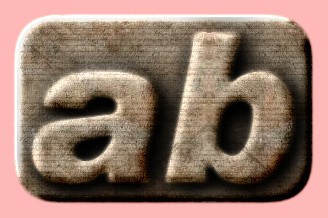 Embossed Concrete Text Effect 008