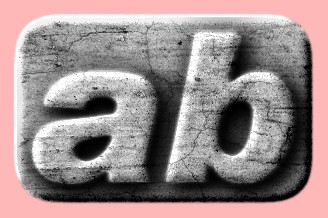 Embossed Concrete Text Effect 032