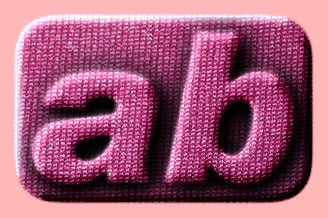 Embossed Fabric Text Effect 001