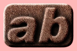 Embossed Food Text Effect 001