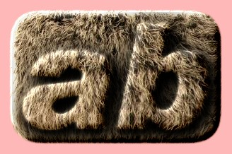 Embossed Fur Text Effect 018