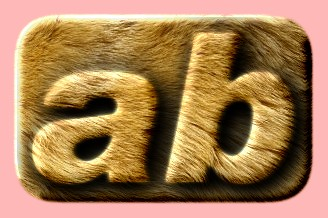 Embossed Fur Text Effect 026