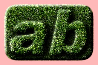 Embossed Grass Text Effect 002