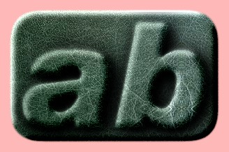 Embossed Leather Text Effect 001