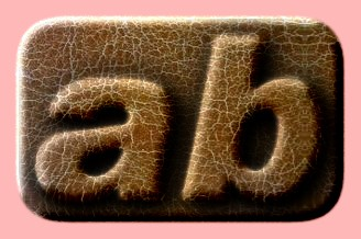 Embossed Leather Text Effect 003
