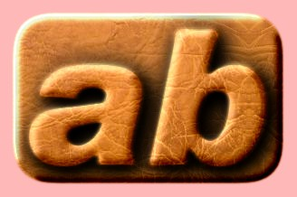 Embossed Leather Text Effect 005