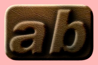 Embossed Leather Text Effect 006
