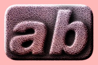 Embossed Leather Text Effect 007