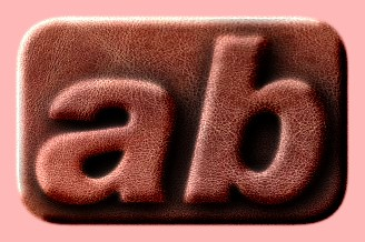 Embossed Leather Text Effect 011