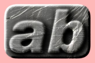 Embossed Plastic Text Effect 001