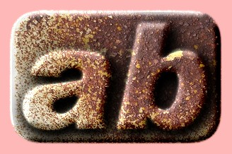 Embossed Rust Text Effect 001