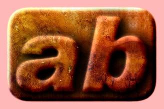 Embossed Rust Text Effect 002